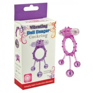 Aphrodisia Purple Ball Banger Cockring Vibe 3 Balls -