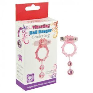 Aphrodisia Ball Banger Cockring Vibe 2 Balls - Pink