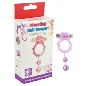Aphrodisia Ball Banger Cockring Vibe 2 Balls - Purple