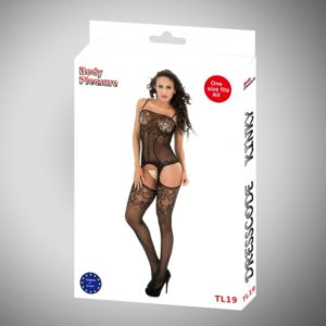 Sexy Lingerie - Body Pleasure - Dresscode Kinky - Sexy Bodystocking - Black - One Size - Tl19