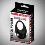 Power Escorts Black Power Turbo Cockring - Vibrerend
