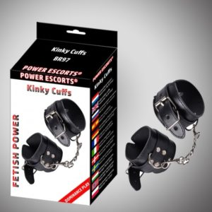 Power Escorts - Kinky Cuffs - Black - Fetish Power - Br97