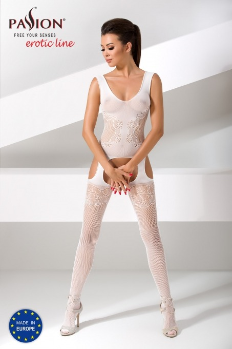 Passion Body Stockings - Wit - Bs046