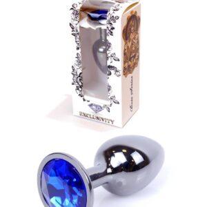 64-00032 dark silver plug dark blue stone